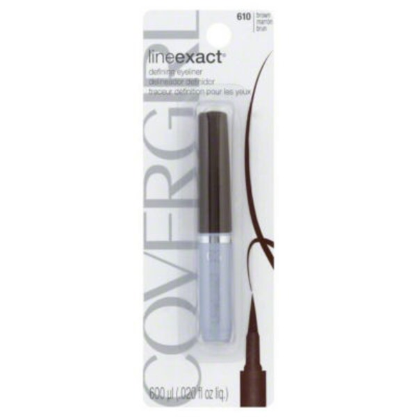 CoverGirl Line Exact COVERGIRL LineExact Liquid Eye Liner Brown 610 .02 oz Female Cosmetics