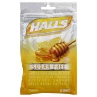 Halls Cough Drops Sugar Free Honey-Lemon