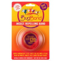 Bugband Red Insect Repellant Wristband