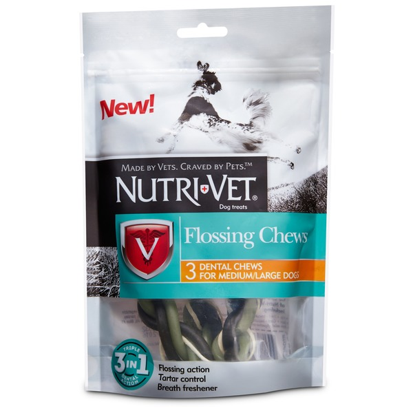 Nutri-Vet Flossing Dental Chews For Medium-Large Dogs