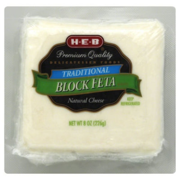 H-E-B Traditional Block Feta Cheese