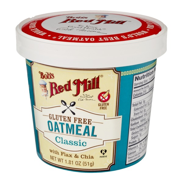 Bob's Red Mill Gluten Free Oatmeal Classic with Flax & Chia