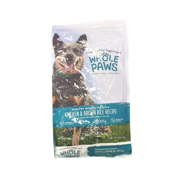 Whole Paws Chicken & Rice Healthy Weight Dog Food