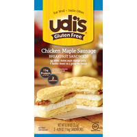 Udi's Egg White, Chicken Maple Sausage & Cheese Breakfast Sandwich, Gluten-Free