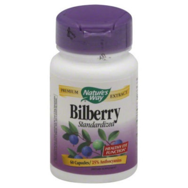Nature's Way Bilberry Extract Capsules