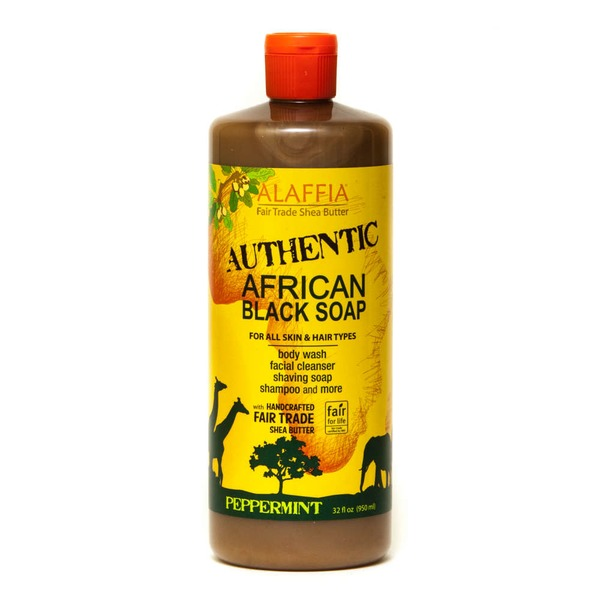 Alaffia Peppermint African Black Soap Body Wash