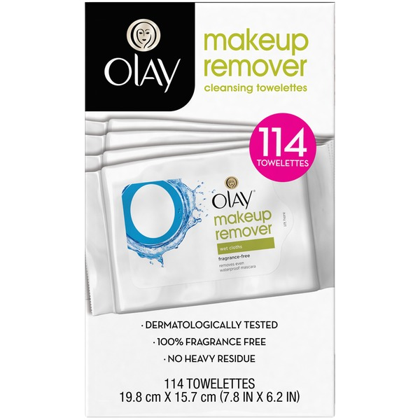 Olay Makeup Remover Wet Cloths, 25 count  Female Skin Care