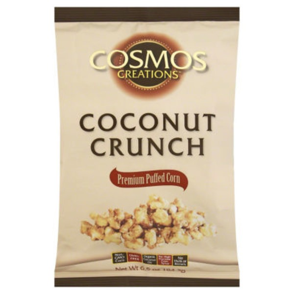 Cosmos Creations Puffed Corn, Premium, Coconut Crunch