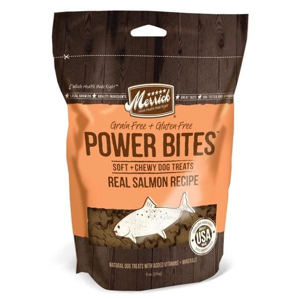 Merrick Power Bites Soft & Chewy Salmon Dog Treats