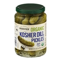Woodstock Farms Organic Kosher Dill Pickles Deli Style