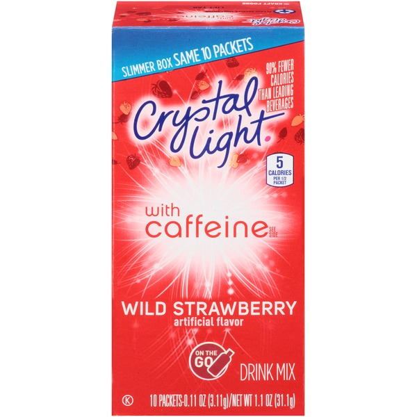 Crystal Light On the Go with Caffeine Wild Strawberry Drink Mix