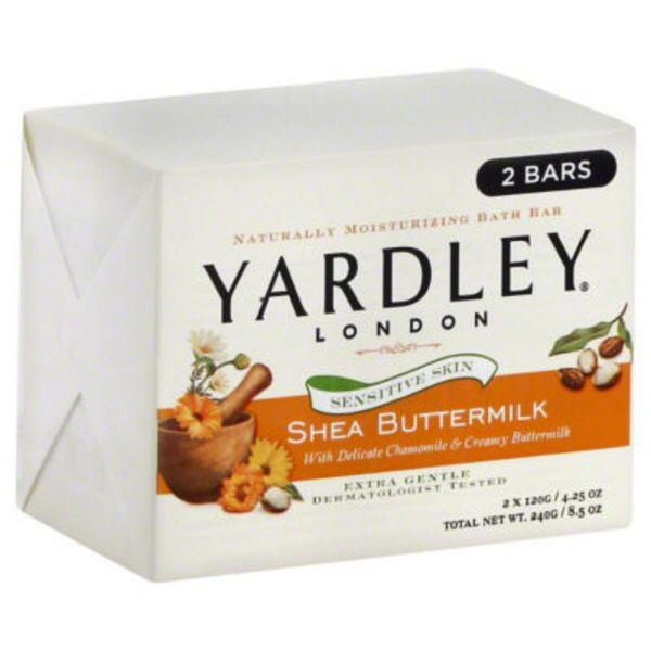 Yardley Sensitive Skin Shea Buttermilk Bath Bar