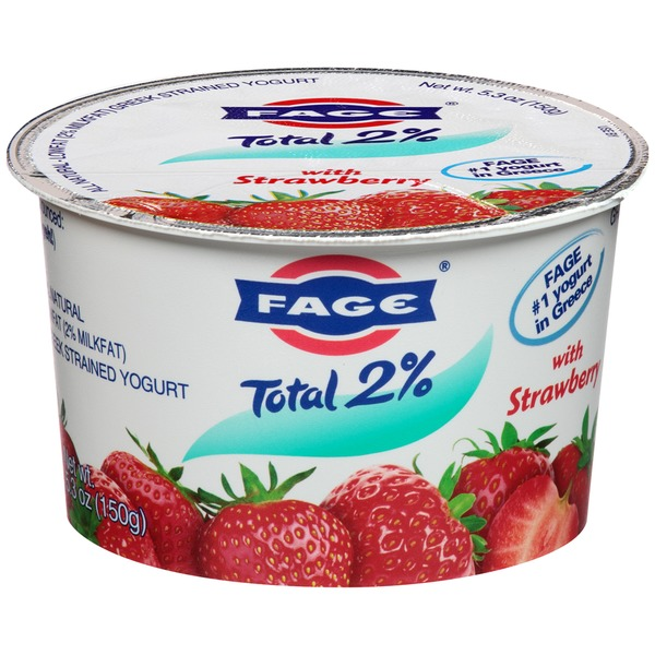 Fage Total 2% with Strawberry Lowfat Greek Strained Yogurt