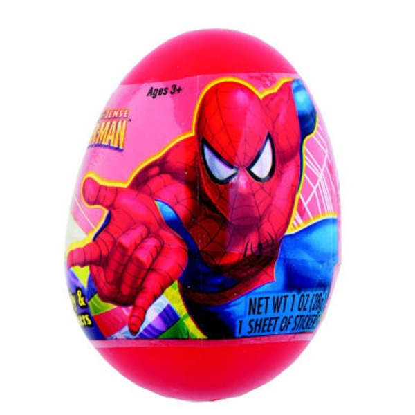 Frankford Candy Marvel Spider-Man Egg Candy & Stickers