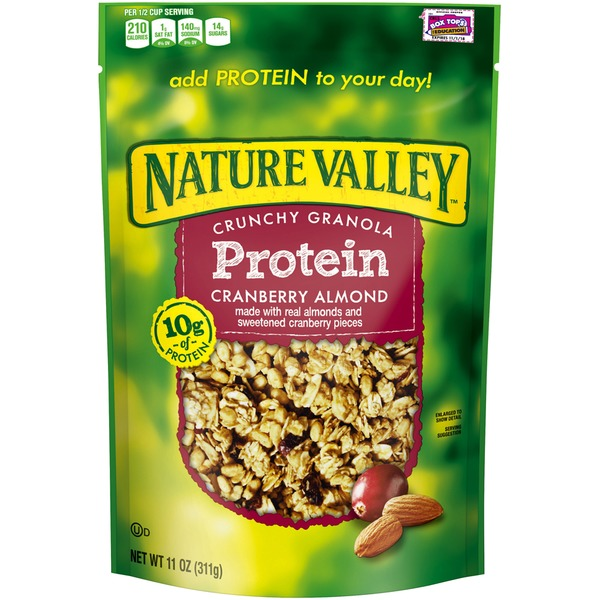 Nature Valley Protein Cranberry Almond Crunchy Granola