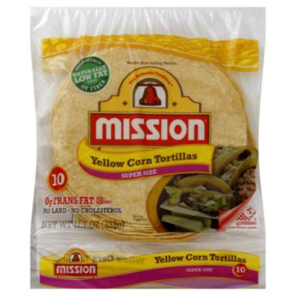 Mission Yellow Corn Super Size Tortillas