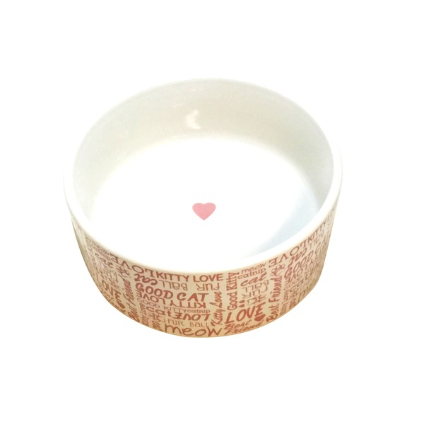 Harmony Love Ceramic 3 Cup Cat Bowl