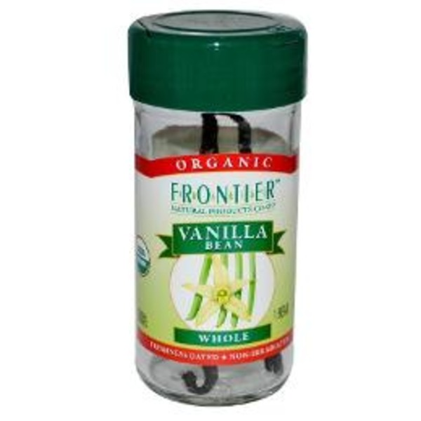 Frontier Natural Products Co-op Frontier Certified Organic Vanilla Beans Whole
