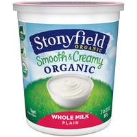 Stonyfield Organic Organic Smooth & Creamy Whole Milk Plain Yogurt