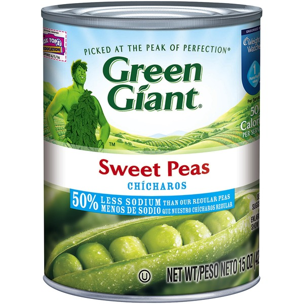 Green Giant Sweet 50% Less Sodium Peas
