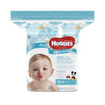 Huggies One and Done Refreshing Baby Wipes, Scented Refill Pack (184 count)