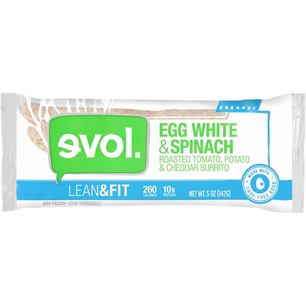 Evol Foods Lean & Fit Egg White & Spinach Burrito