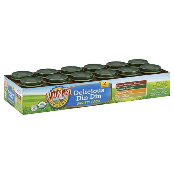 Earth's Best Organic. Delicious Din Din 2 (6 Months+) Variety Pack