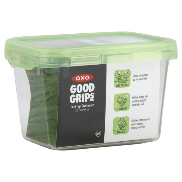 OXO Container, Lock Top, 5.5 Cups/44 Oz, Green