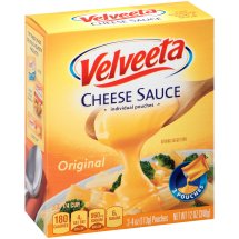 Velveeta Original Cheese Sauce, 3 count 4 oz, 10 oz Pouches