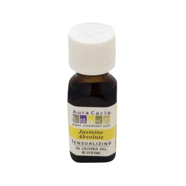 Aura Cacia Jasmine Absolute With Jojoba Essential Oil
