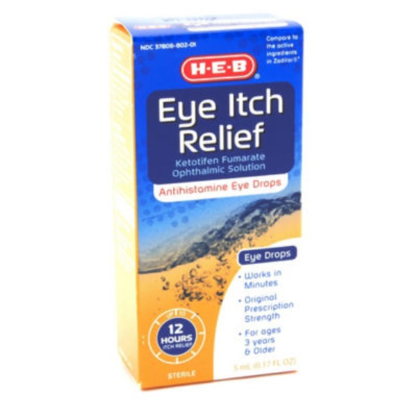 H-E-B Eye Itch Relief Antihistamine Eye Drops