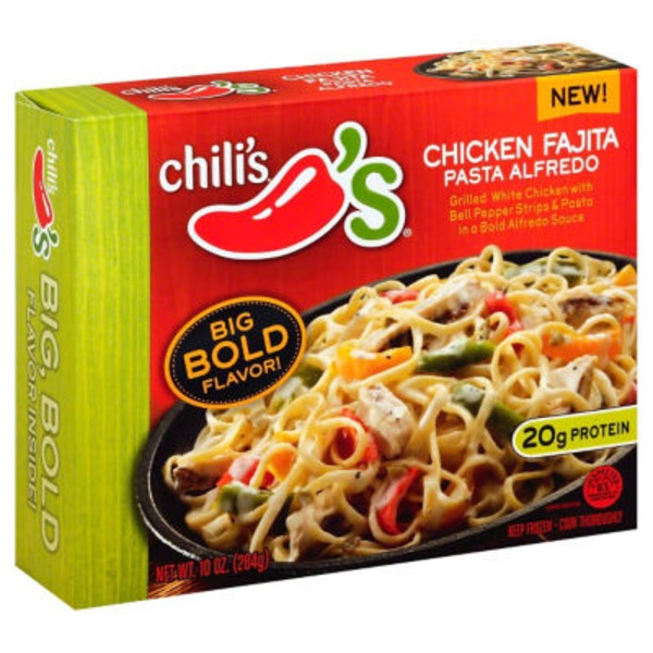 Chili's Chicken Fajita Pasta Alfredo Frozen Dinner