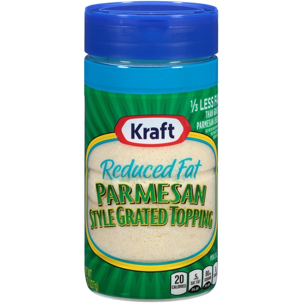 Kraft Grated Cheese Reduced Fat Parmesan Style Grated Topping Cheese