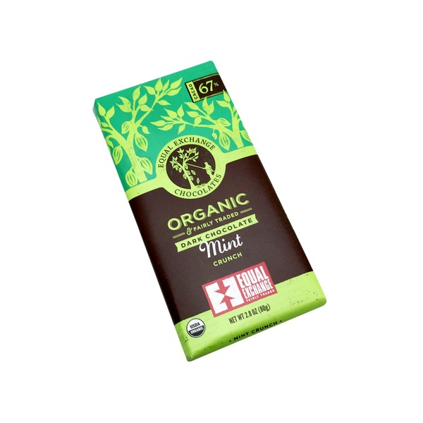 Equal Exchange Organic Mint Crunch Dark Chocolate Bar