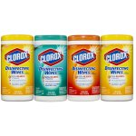 Clorox Disinfecting Wipes Value Pack, Citrus Blend, Fresh Scent and Orange Fusion, 300 Wet Wipes