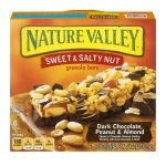 Nature Valley Granola Bars, Sweet and Salty Nut, Dark Chocolate Peanut & Almond, 6 Bars - 1.2 oz, 1.24 OZ