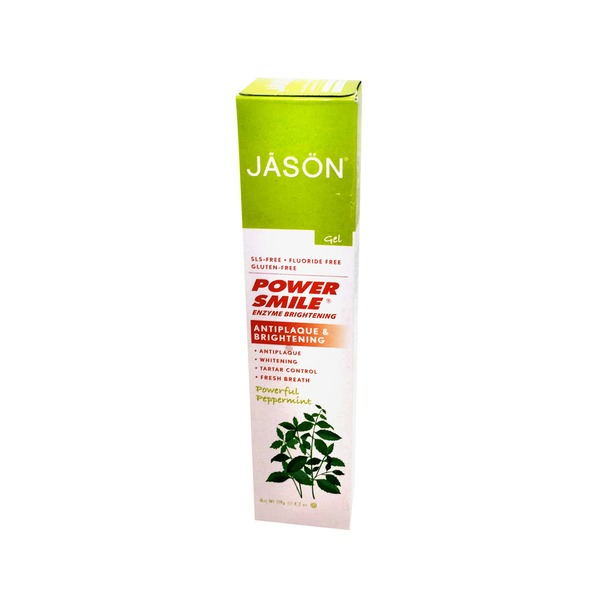 Jason Tooth Gel, Enzyme Brightening, Powerful Peppermint