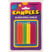 Unique Neon Birthday Candles