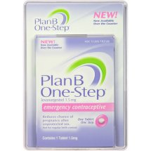 Plan B One-Step Emergency Contraceptive Levonorgestrel Tablet, 1.5 mg
