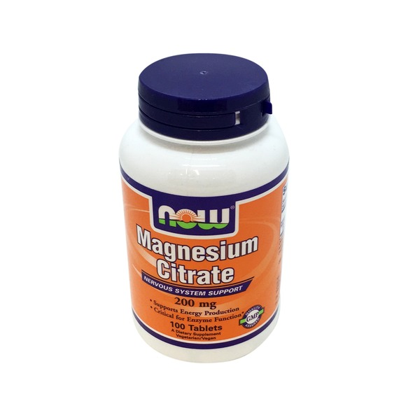 Now Magnesium Citrate 200mg Supplement