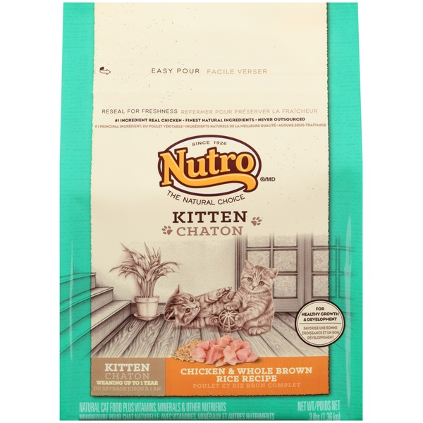 Nutro Natural Choice Wholesome Essentials Chicken & Whole Brown Rice Kitten Food