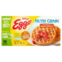 Kellogg's Eggo Nutri-Grain Whole Wheat Waffles 10 ct Box