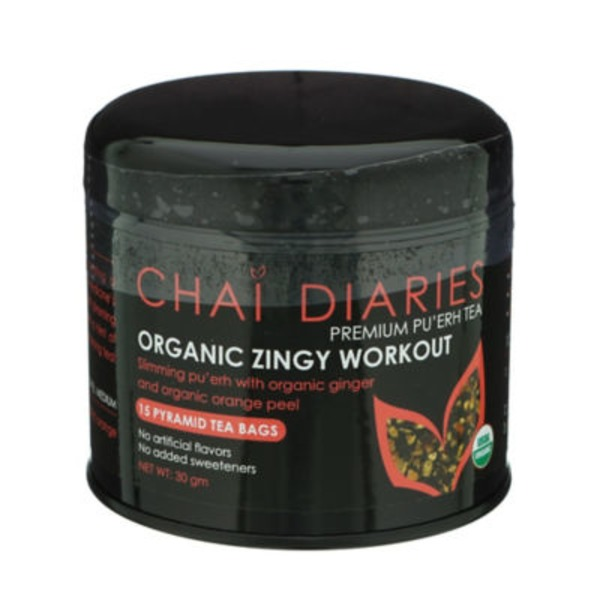 Chai Diaries Organic Zingy Workout Premium Puerh Tea