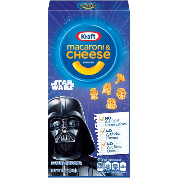 Kraft Dinners Star Wars Shapes Macaroni & Cheese Dinner