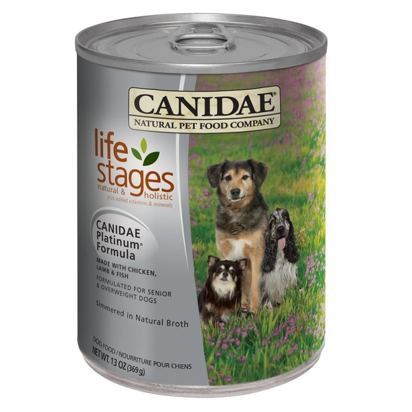 Canidae Natural Pet Food Company Life Stages Natural & Holistic Platinum Formula Senior & Overweight Adult Canned Dog Food