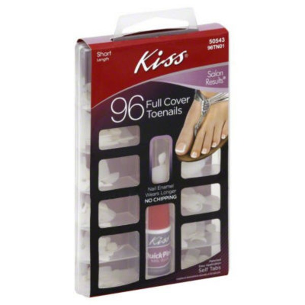Kiss Toenail Kit, Full Cover, Short Length