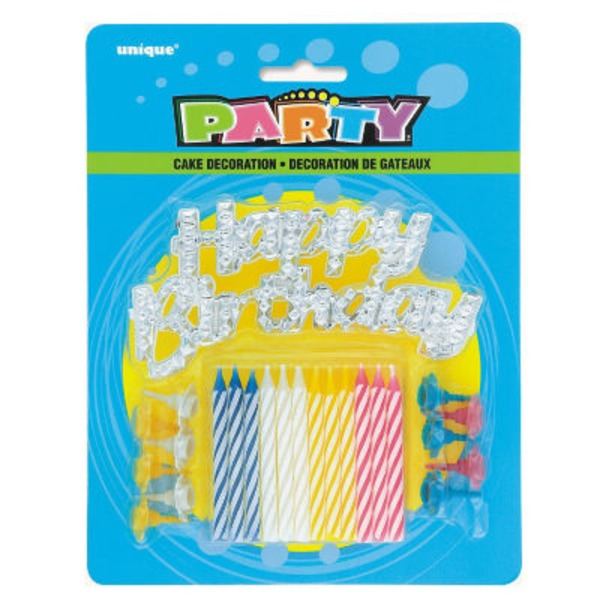 Unique Party Candles With Happy Birthday Cake Decoration
