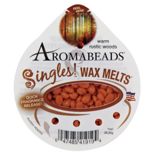 Aromabeads Singles Wax Melts Warm Rustic Woods