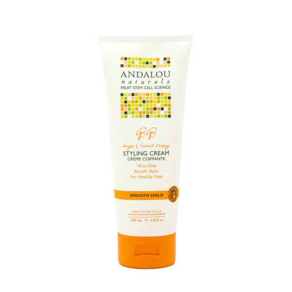 Andalou Naturals BB Argan & Sweet Orange Styling Cream, Smooth Hold