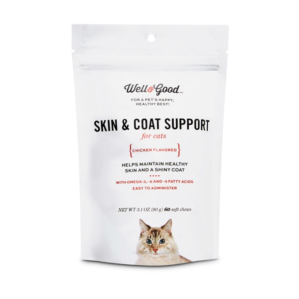 Well & Good Skin & Coat Support Cat Chews 3.1 Oz.